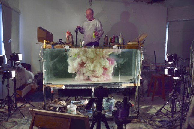 Kim Keever at work in his studio. (PRNewsFoto/Waterhouse & Dodd)