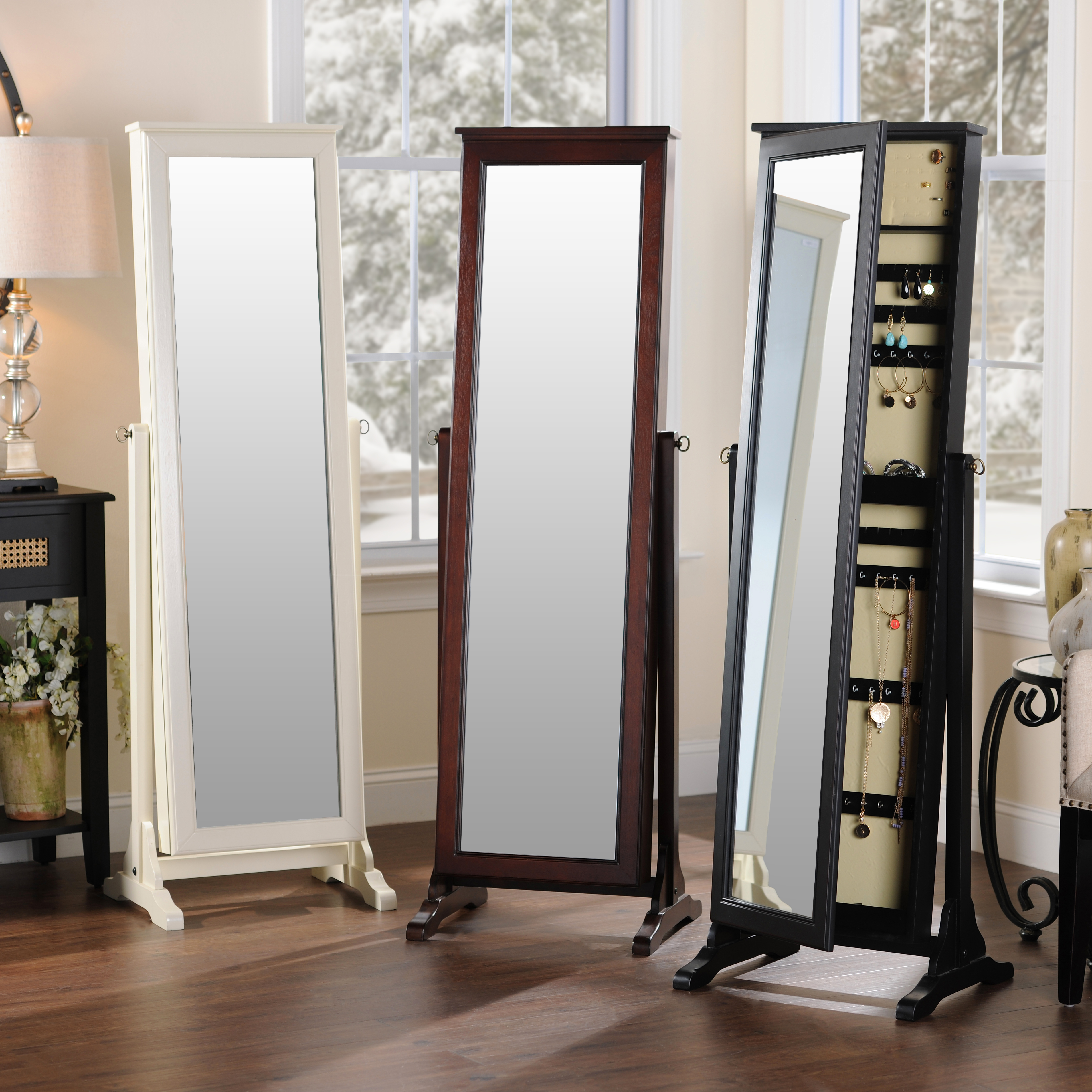 Kirklands Black Cheval Armoire Mirror is a great gift for the girl
