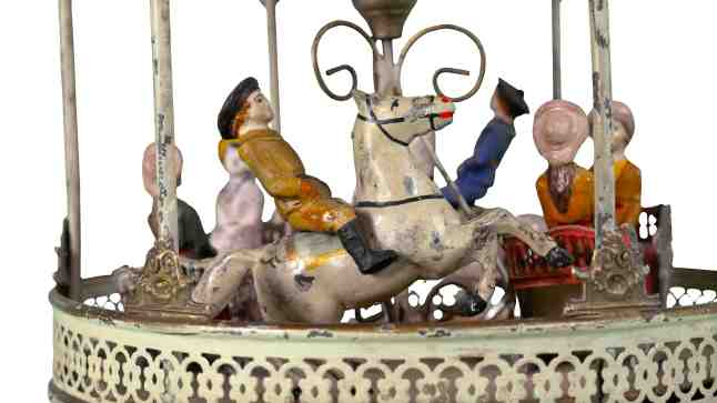 Detail of Gebrüder Bing Carousel, 1880-1890. New-York Historical Society, The Jerni Collection.