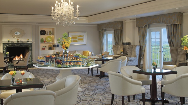 On the Club Level, guests congregate for gourmet fare and exclusive events.