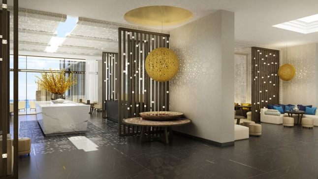 The Four Seasons Hotel Morocca features Modern design with Moroccan inspirations