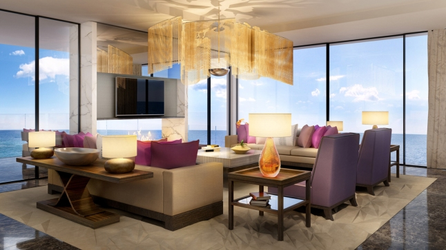Presidential Suite with a 180-degree view over the Atlantic