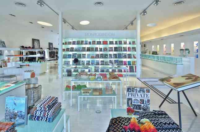 Interior shot of the RONROBINSON Flagship Boutique in Santa Monica CA
