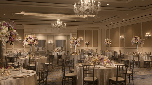 The stunning ballroom of The Ritz-Carlton, St. Louis provides an enchanting backdrop for any wedding or special celebration.