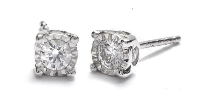 $149 – 3/8 ct. t.w. True Miracle® Diamond Earrings in 14k White Gold