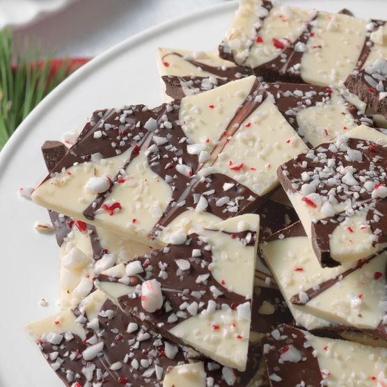 Hickory Farms White & Dark Chocolate Peppermint Bark