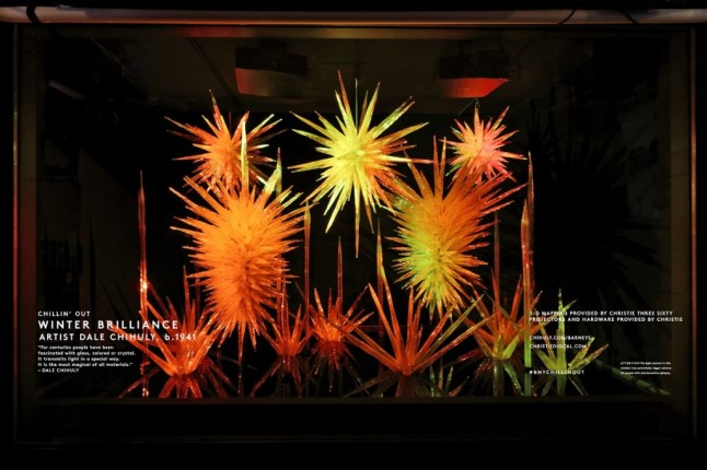 'Winter Brilliance,' a site-specific installation piece by Dale Chihuly.