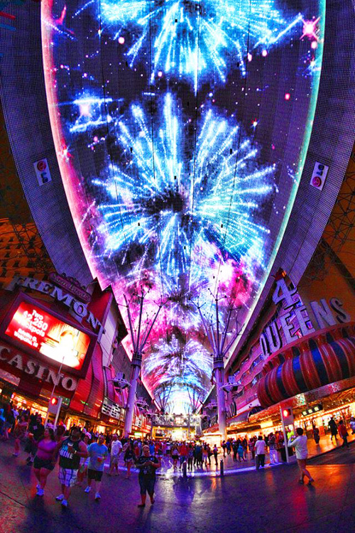 Image result for Las Vegaslargest LED video canopy in the world NYE countdown