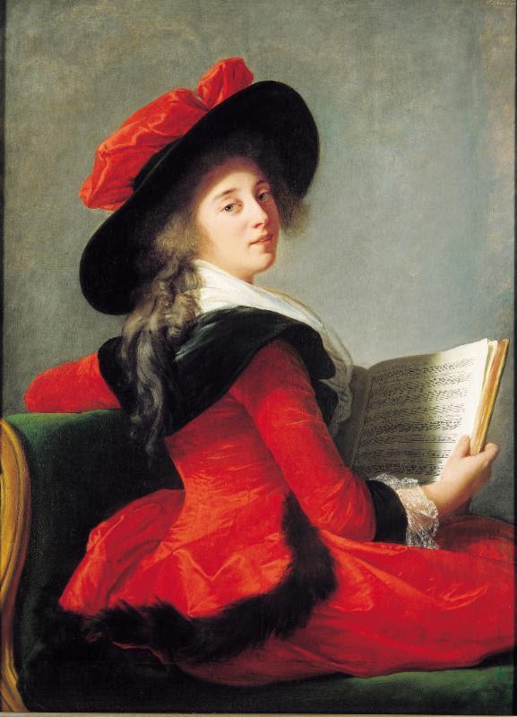 All portraits by Elisabeth Louise Vigée Le Brun (French, Paris 1755-1842 Paris): Baronne de Crussol Florensac, 1785. Oil on wood. Musée des Augustins, Toulouse