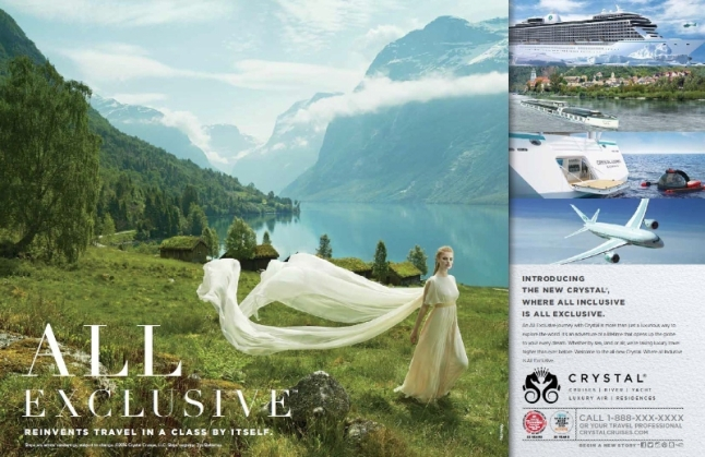 All Exclusive Advertising Campaign (PRNewsFoto/Crystal Cruises)
