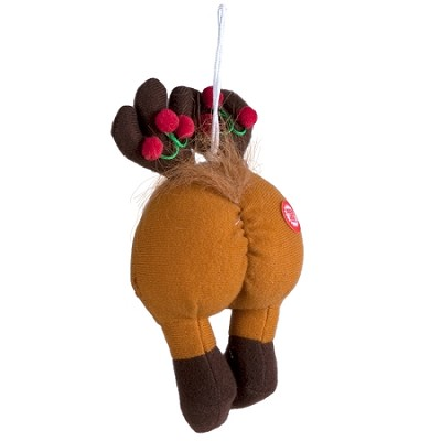 Farting Reindeer Butt Ornament
