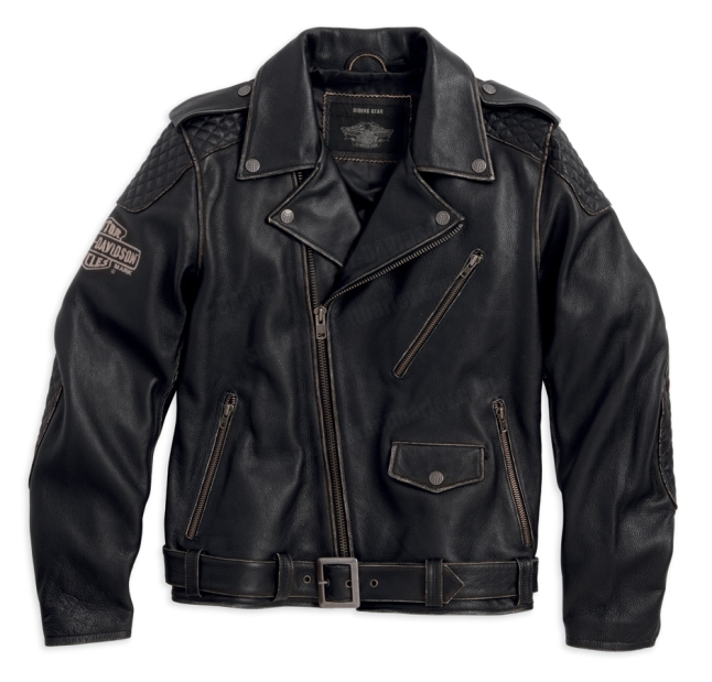 Harley-Davidson Men Vintage Leather Biker Jacket