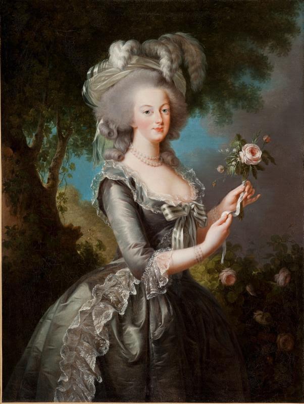 All portraits by Elisabeth Louise Vigée Le Brun (French, Paris 1755-1842 Paris): Marie Antoinette with a Rose, 1783. Oil on canvas. Lynda and Stuart Resnick