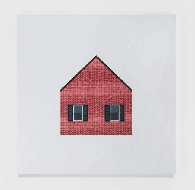Mathew Cerletty, House, 2014. Oil on linen, 50 × 50 in. (127 × 127 cm). Courtesy the artist and Office Baroque, Brussels. Photograph by EPW Studio, New York.