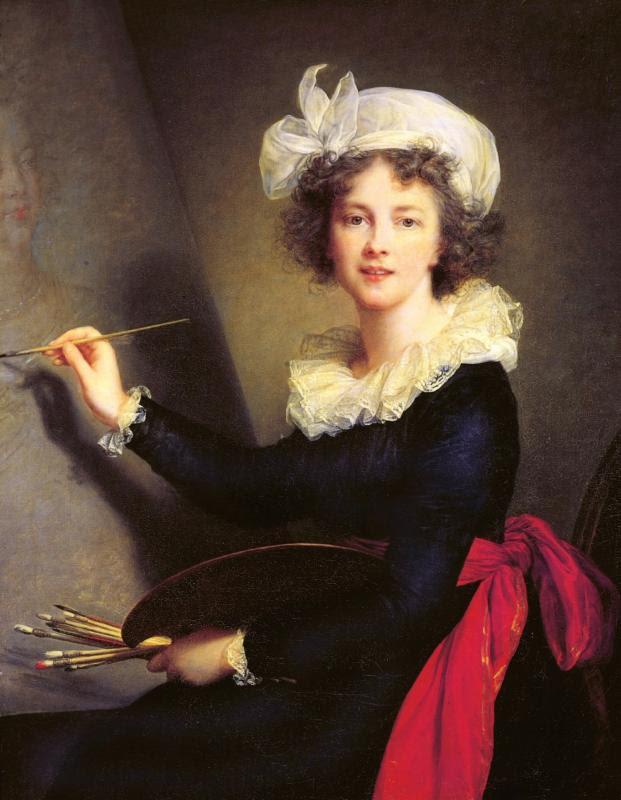 All portraits by Elisabeth Louise Vigée Le Brun (French, Paris 1755-1842 Paris): Self-portrait, 1790. Oil on canvas. Galleria degli Uffizi, Corridoio Vasariano, Florence (1905)