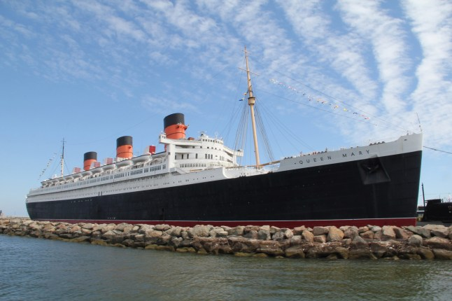 The 80 year old Queen Mary in Long Beach, CA (PRNewsFoto/The Queen Mary)