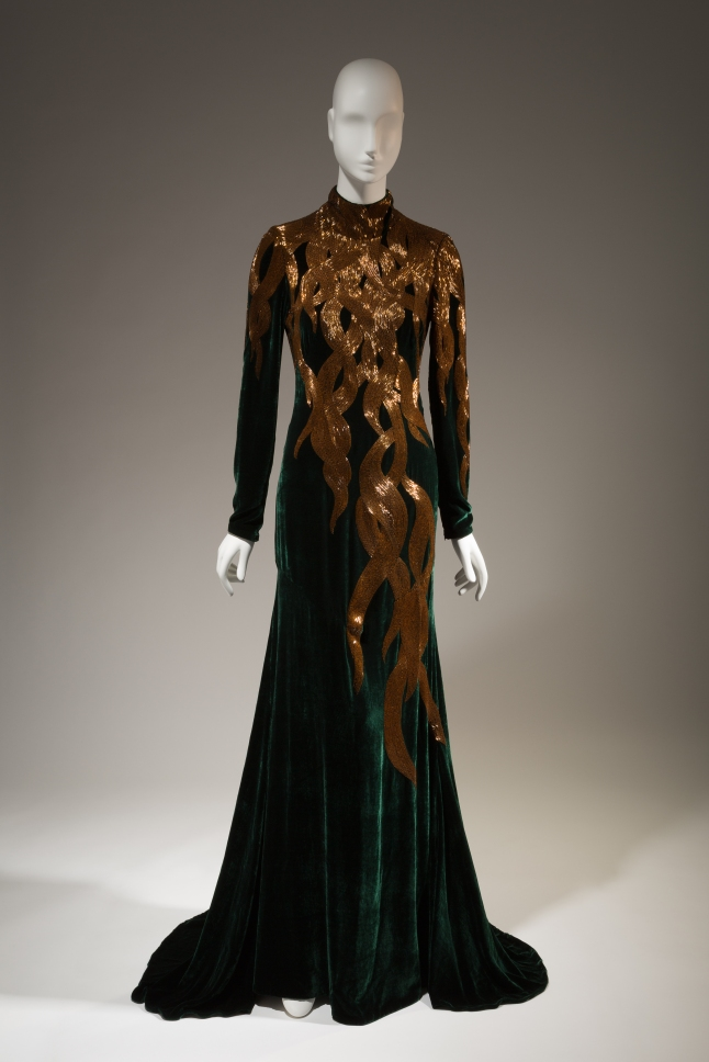 "Alexander McQueen, dress, fall 2007, England. The Museum at FIT, 2013.2.1, photograph © The Museum at FIT (illustrating ""Rapunzel"")"
