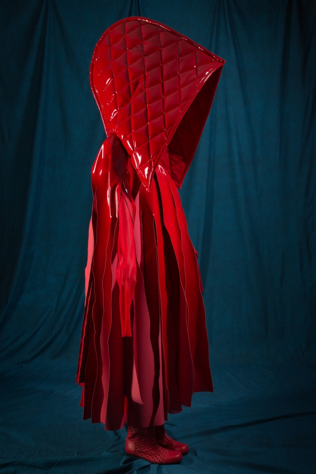 "Comme des Garçons, ensemble, spring 2015, Japan. The Museum at FIT, 2015.8.1, photograph © The Museum at FIT (illustrating ""Little Red Riding Hood"")"