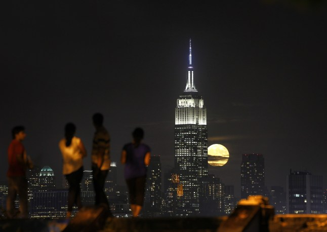 The winning photo by Gary Hershorn (PRNewsFoto/Empire State Realty Trust, Inc.)