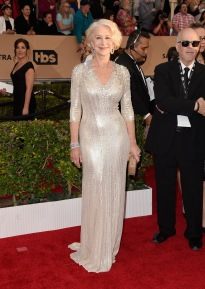 LOS ANGELES, CA - JANUARY 30: Actress Helen Mirren attends The 22nd Annual Screen Actors Guild Awards at The Shrine Auditorium on January 30, 2016 in Los Angeles, California. 25650_015 (Photo by Jason Merritt/Getty Images for Turner)