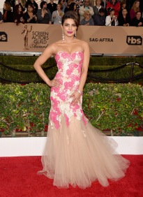 LOS ANGELES, CA - JANUARY 30: Actress Priyanka Chopra attends The 22nd Annual Screen Actors Guild Awards at The Shrine Auditorium on January 30, 2016 in Los Angeles, California. 25650_015 (Photo by Jason Merritt/Getty Images for Turner)