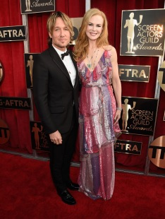 LOS ANGELES, CA - JANUARY 30: Keith Urban and Nicole Kidman attend The 22nd Annual Screen Actors Guild Awards at The Shrine Auditorium on January 30, 2016 in Los Angeles, California. 25650_012 (Photo by Kevin Mazur/Getty Images for Turner)