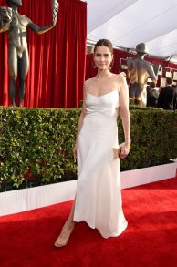LOS ANGELES, CA - JANUARY 30: Actress Amanda Peet attends The 22nd Annual Screen Actors Guild Awards at The Shrine Auditorium on January 30, 2016 in Los Angeles, California. 25650_014 (Photo by Larry Busacca/Getty Images for Turner)