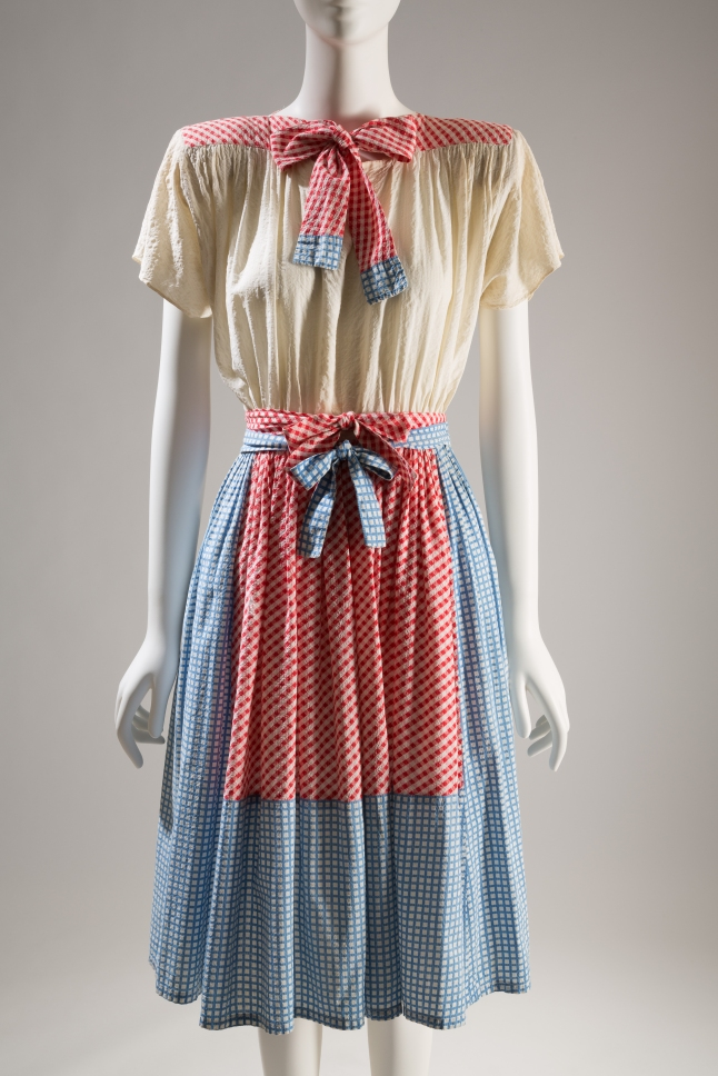 Adrian, dress, circa 1942, USA. The Museum at FIT, 71.248, photograph © The Museum at FIT (illustrating The Wizard of Oz)