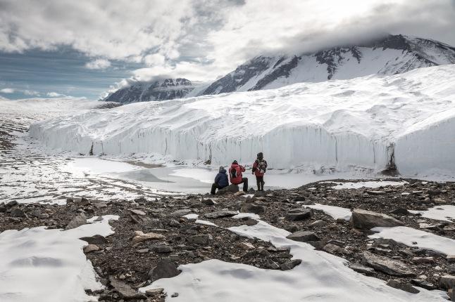 The Canada Glacier in Taylor Valley, McMurdo Dry Valleys. Ross Sea, Antarctica.