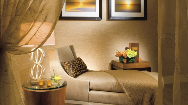 Experience the tranquility of our serene Ladies Relaxation Lounge.