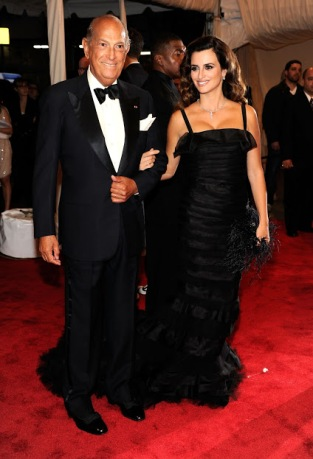 Oscar de la Renta with Penelope Cruz