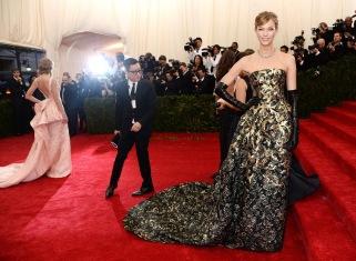 Model Karlie Kloss at the Met Gala