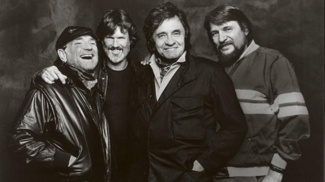 The Highwaymen (l to r): Willie Nelson, Kris Kristofferson, Johnny Cash, Waylon Jennings