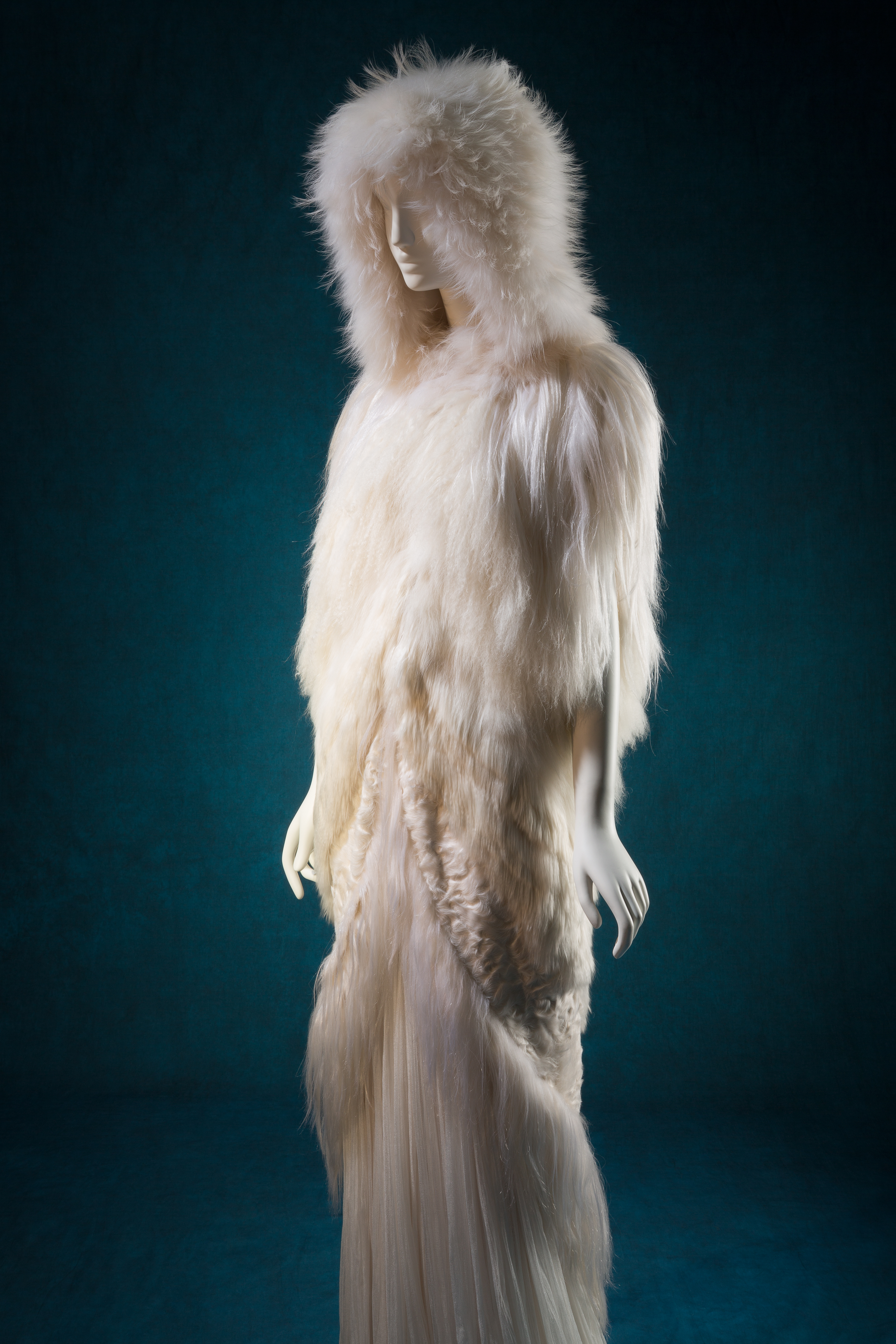 "J. Mendel, ensemble, 2011 (cape) and spring 2008 (dress). Lent by J. Mendel, photograph © The Museum at FIT (illustrating ""The Snow Queen"")"
