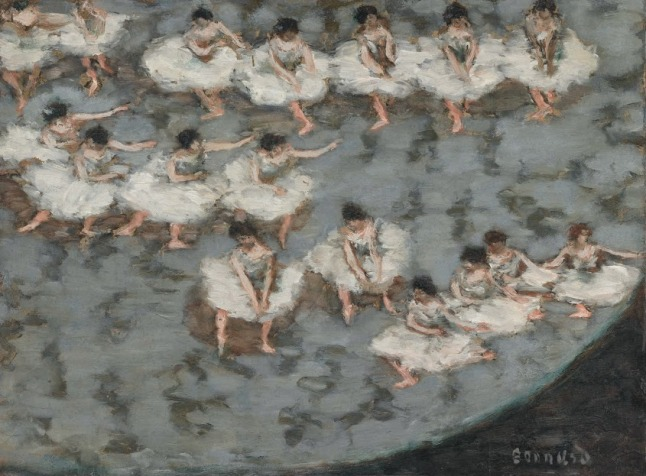 "Pierre Bonnard, ""Dancers"", ca. 1896. Oil on cardboard. Musée d'Orsay, Paris; acquired in 2013, RF 2013-20"