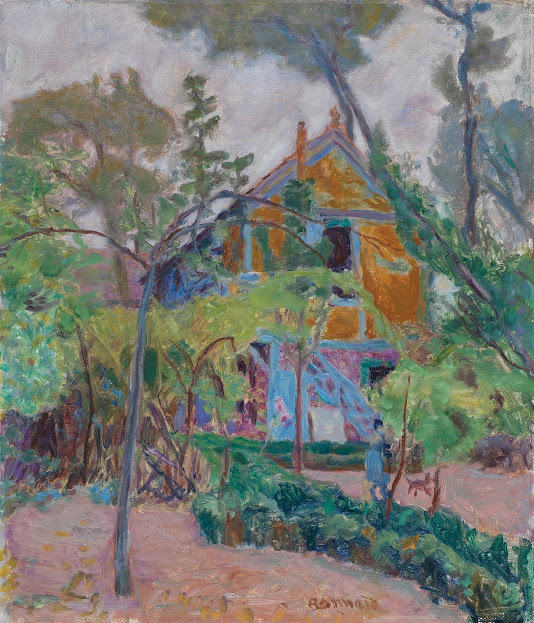 "Pierre Bonnard, ""House among the Trees (""My Caravan"" at Vernonnet)"", ca. 1918. Oil on canvas. The Fitzwilliam Museum, Cambridge"