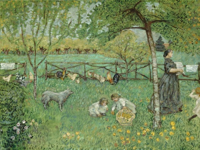 "Pierre Bonnard, ""The Large Garden"", 1895. Oil on canvas. Musée d'Orsay, Paris; gift of Jean-Claude Bellier in memory of his father, Alphonse Bellier, 1982, RF 1982-58"