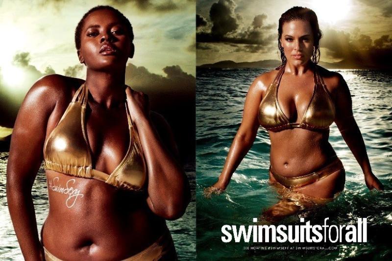 swimsuitsforall Philomena Kwao and Ashley Graham