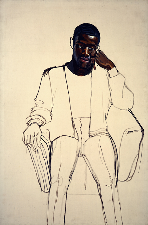 Alice Neel (American, 1900–1984). James Hunter Black Draftee, 1965. Oil on canvas_ 60 x 40 in. (152.4 x 101.6 cm). COMMA Foundation, Belgium. © The Estate of Alice Neel (1)