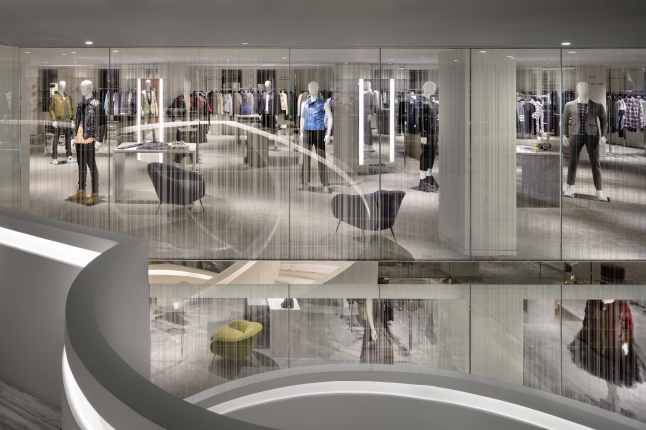 Barneys New York Downtown Flagship - Mens Third Floor. Photograph by Scott Frances