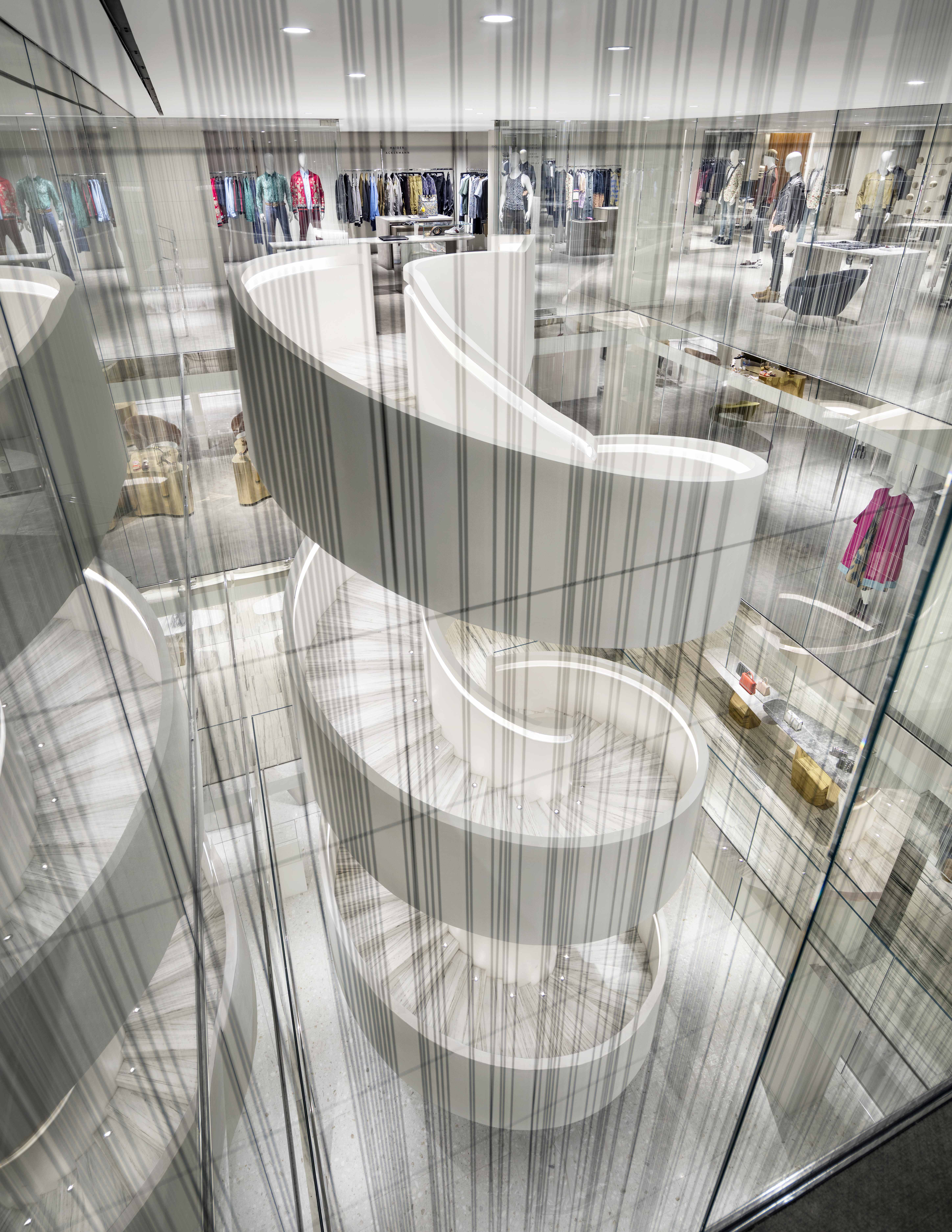Barneys New York Downtown Flagship - Staircase (2). Photograph by Scott Frances