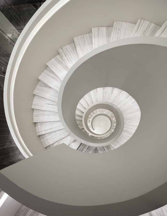 Barneys New York Downtown Flagship - Staircase. Photograph by Scott Frances