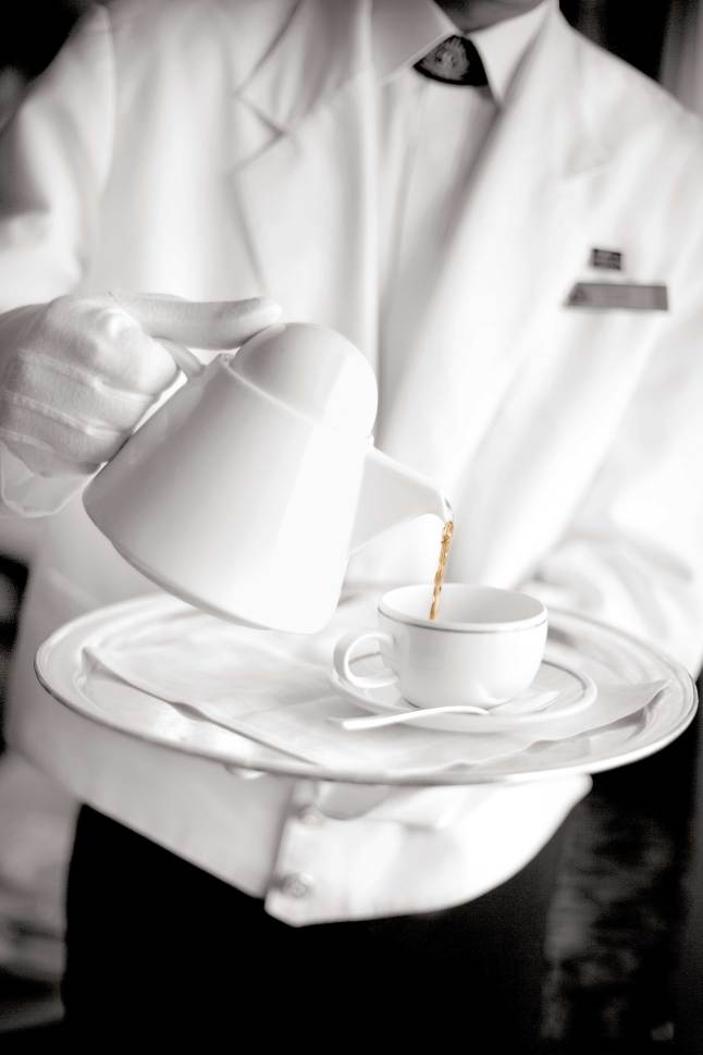 High Tea, White Star Service, Staff, pouring tea,