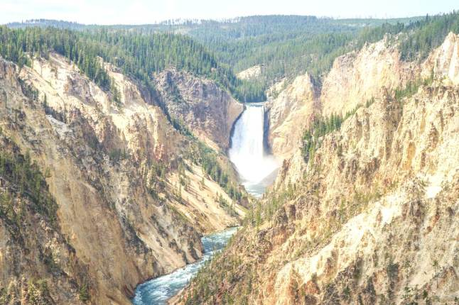 Lower Falls from above in Yellowstone National Park © Brian Milner - 500px
