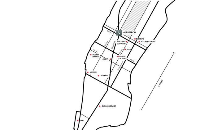 Manhattan Department Stores Map
