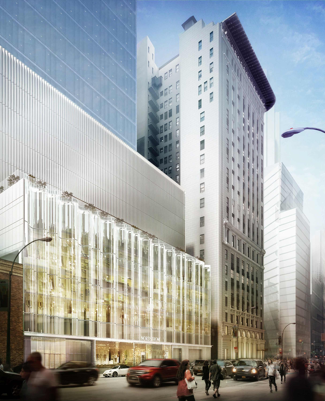Nordstrom Manhattan Flagship W58th Glass Waveforms Facade