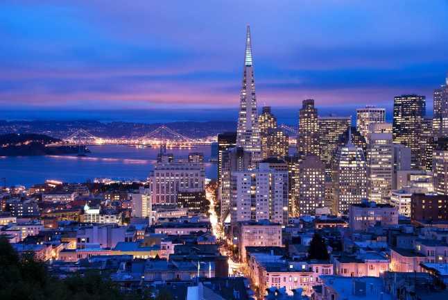 San Francisco at dusk