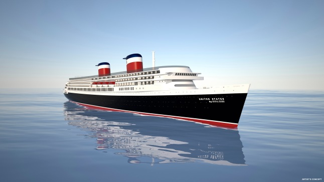 SS United States will be transformed into an 800-guest-capacity vessel, featuring 400 suites measuring about 350 square feet with dining, entertainment, spa and other luxury guest amenities.
