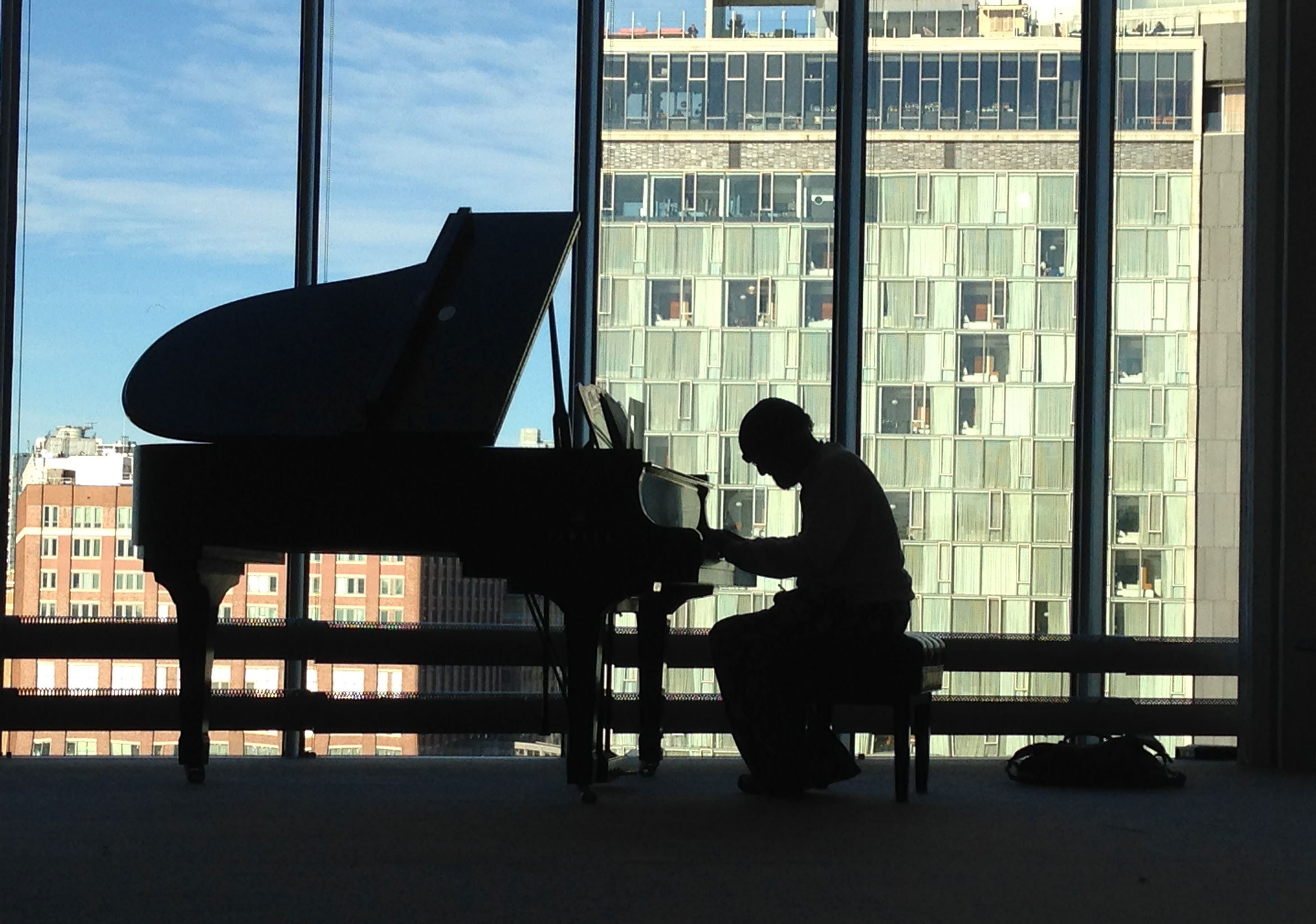 Cecil Taylor in rehearsal at the Whitney Museum, November 2015.