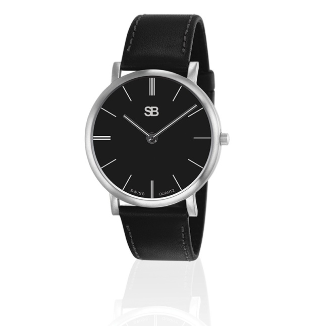 SB Watch with Black Dial